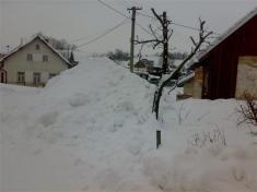 Přebytek lednového sněhu
