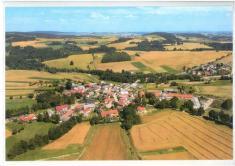 Letecký pohled - střed obce